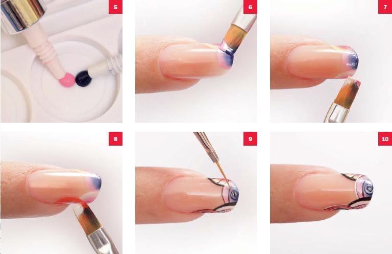 Китайская роспись на ногтях фото.