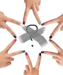 Ногти разного цвета мода 2014