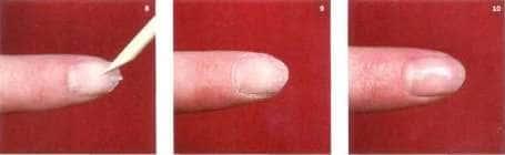 Процедура снятия искусственных ногтей