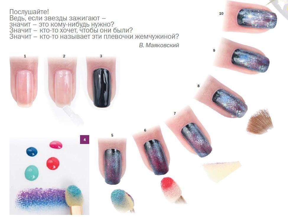 Дизайн натуральных ногтей: фото декора и украшений для 17