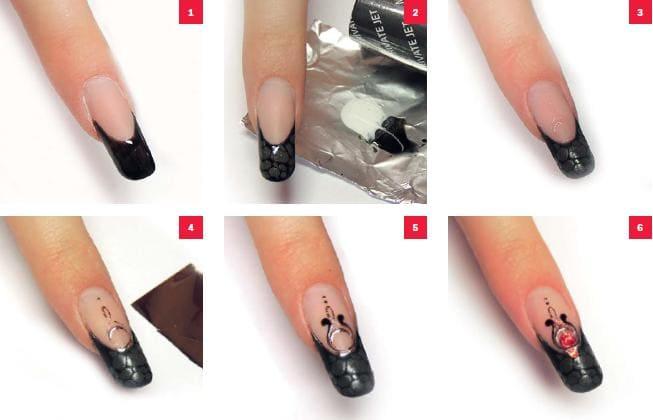 Литье на ногтях пошагово, мастер - класс с фото 28