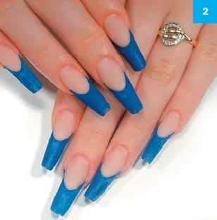 Пример дизайна ногтей для квадратных ногтей