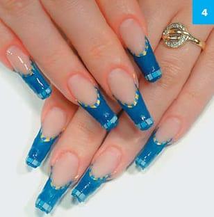 Пример дизайна ногтей квадратных