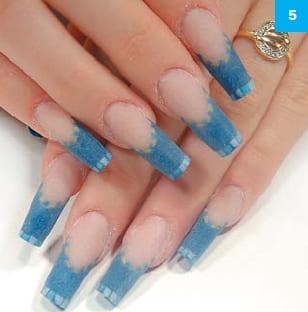 Дизайн ногтей в греческом стиле для квадратных ногтей