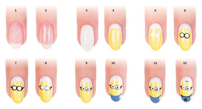 Ногти пошагово дизайн