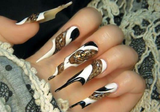 Необычный дизайн ногтей к празднику