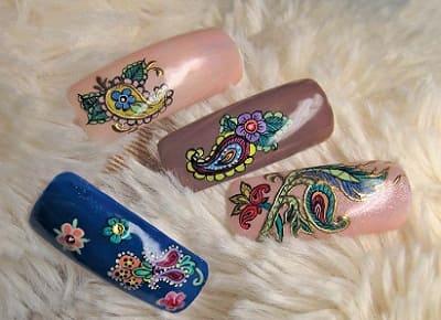 Дизайн ногтей камуфляж фото
