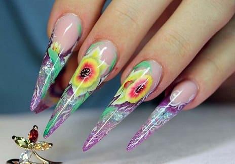 Пример дизайна ногтей - силь