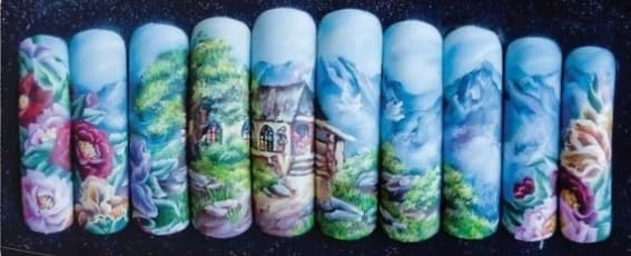Китайская ропись ногтей