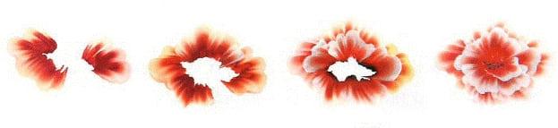 Китайская ропись ногтей - цветок