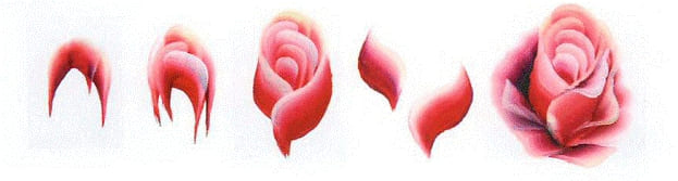 китайская ропись ногтей - роза