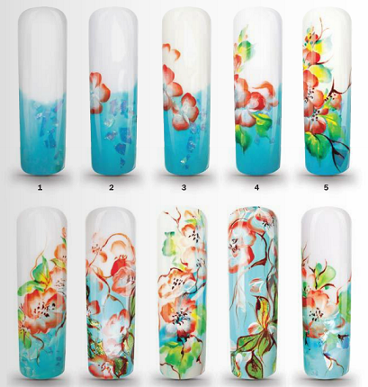Дизайн ногтей пошагово цветы