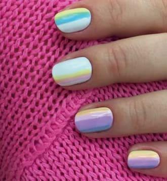 Дизайн ногтей акварельным лаком марки OPI