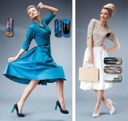Цвет и дизайн ногтей к платью