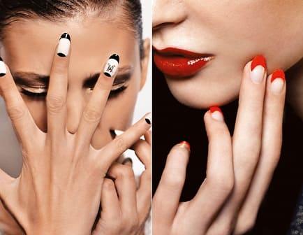 Модный дизайн ногтей - лунный маникюр