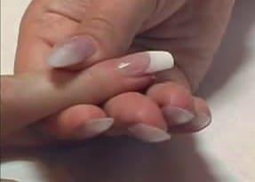 Наращивание ногтей верхними формами на типсы