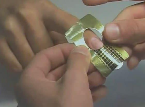 Наращивание гелем на формы - видео пример