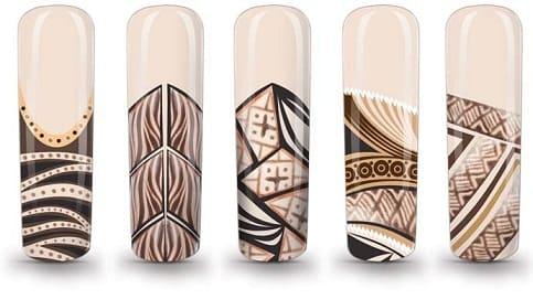 Дизайн ногтей тонкой кистью