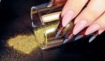 золотой пигмент для ногтей