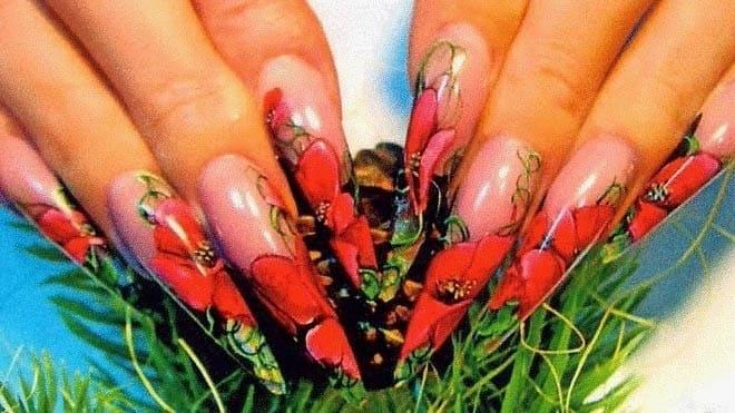 Акварельный дизайн ногтей - фото