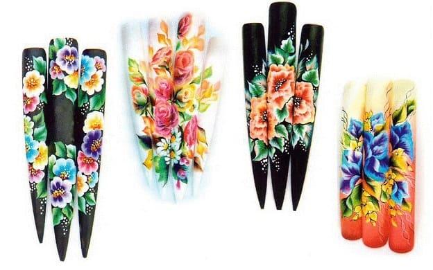 Примеры китайской рописи ногтей