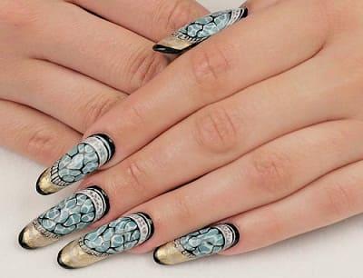 Ногти дизайн витражный фото