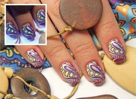 Дизайн гель лаком на коротких ногтях