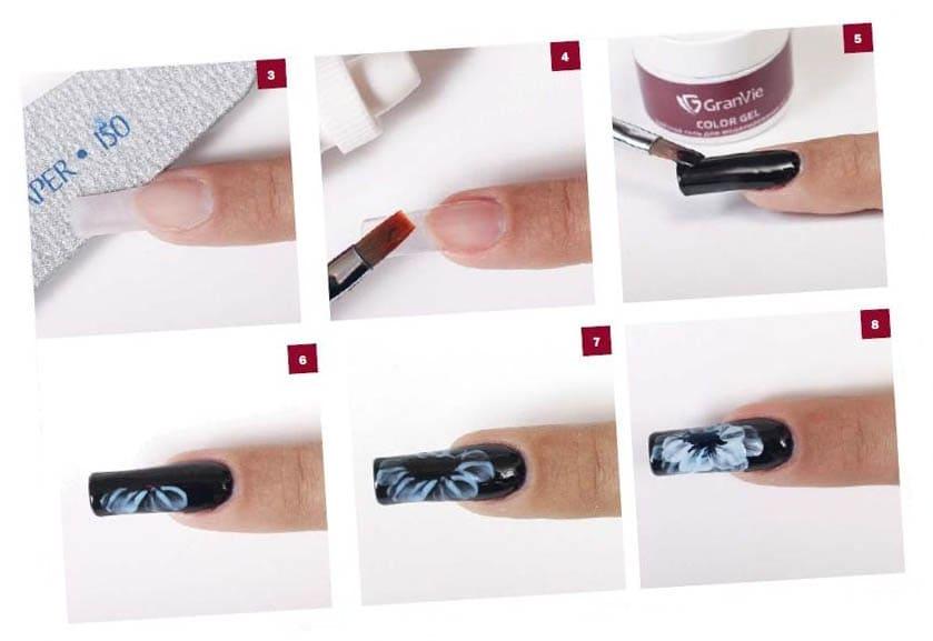 роспись ногтей для начинающих пошагово с фото